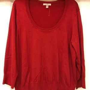 NEW LISTING BNWOT Women's 2X Red Sweater
